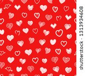 different sketch style hearts... | Shutterstock . vector #1313934608