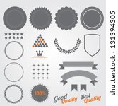 set of blank retro vintage... | Shutterstock .eps vector #131394305