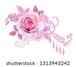 decorative decoration  paisley... | Shutterstock . vector #1313943242