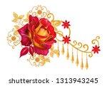 decorative decoration  paisley...   Shutterstock . vector #1313943245