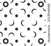 black and white crescent...   Shutterstock .eps vector #1313946068
