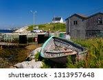 working fishermen on the dock... | Shutterstock . vector #1313957648
