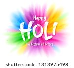 colorful explosion for happy... | Shutterstock .eps vector #1313975498