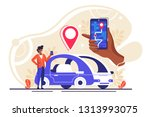 gps system  cartography display ...   Shutterstock .eps vector #1313993075