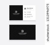 modern   elegant business card... | Shutterstock .eps vector #1313996975