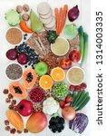 high fibre health food concept...   Shutterstock . vector #1314003335