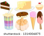 candy.a collection of delicious ... | Shutterstock .eps vector #1314006875