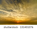 dramatic sky over a lake | Shutterstock . vector #131401076