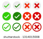 correct and incorrect check... | Shutterstock .eps vector #1314015008