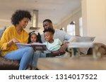 front view of happy african... | Shutterstock . vector #1314017522