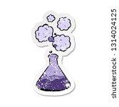 retro distressed sticker of a...   Shutterstock .eps vector #1314024125