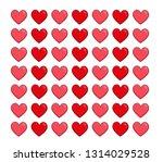 vector hearts background.... | Shutterstock .eps vector #1314029528