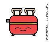 cute cartoon of a of a toaster | Shutterstock .eps vector #1314032342