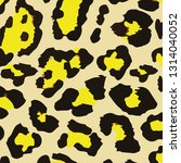 pattern yellow black wallpaper... | Shutterstock .eps vector #1314040052
