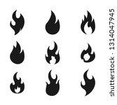 fire flame logo icon set ... | Shutterstock .eps vector #1314047945