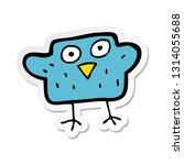 sticker of a cartoon bird | Shutterstock .eps vector #1314055688