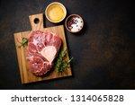 raw beef steak osso bucco with... | Shutterstock . vector #1314065828