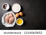 raw brains and ingredients for... | Shutterstock . vector #1314065852