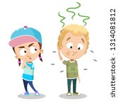 cartoon girl annoyed with the... | Shutterstock .eps vector #1314081812