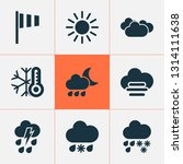 climate icons set with rainy ... | Shutterstock .eps vector #1314111638
