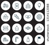 holiday icons set with postcard ...   Shutterstock .eps vector #1314112088