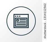 web icon line symbol. premium...