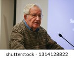 Small photo of MIT Professor Noam Chomsky delivered the keynote speech in a conference on the Freedom of the Press in the Middle East was held in Boston College in 15 November 2015.