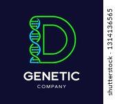 letter d genetic dna vector... | Shutterstock .eps vector #1314136565