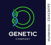 letter o genetic dna vector... | Shutterstock .eps vector #1314136595