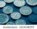 euro coins. selective focus. | Shutterstock . vector #1314148295
