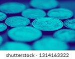 gold euro coins. selective... | Shutterstock . vector #1314163322