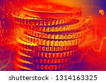 columns of euro coins. very... | Shutterstock . vector #1314163325