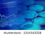 gold euro coins. selective... | Shutterstock . vector #1314163328