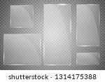 vector modern transparent glass ... | Shutterstock .eps vector #1314175388