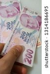 turkish lira paper money and... | Shutterstock . vector #1314186695