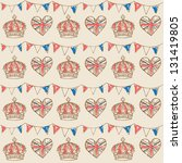 Bunting And Crowns Seamless...