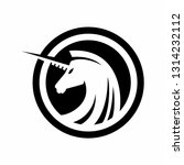 unicorn head in circle logo | Shutterstock .eps vector #1314232112