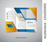 empty trifold brochure template ... | Shutterstock .eps vector #1314254405