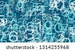 abstract vector random numbers  ...   Shutterstock .eps vector #1314255968