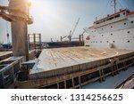 hatch cover  derrick... | Shutterstock . vector #1314256625