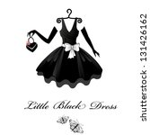 little black dresses | Shutterstock .eps vector #131426162