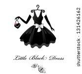 little black dresses   Shutterstock .eps vector #131426162