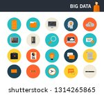 big data concept flat icons | Shutterstock .eps vector #1314265865