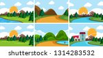 set of nature landscape... | Shutterstock .eps vector #1314283532
