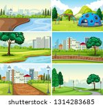 set of park background... | Shutterstock .eps vector #1314283685