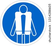 wear life jacket sign. sign of... | Shutterstock .eps vector #1314288605