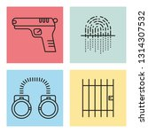 law and society icon concept | Shutterstock .eps vector #1314307532