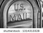 us mail written on a mailbox. | Shutterstock . vector #1314313328