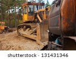 few tractors on sand in the... | Shutterstock . vector #131431346
