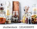 stocks or set of cereals  pasta ... | Shutterstock . vector #1314330095